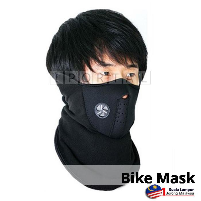 Ski Snowboard Motorcycle Bicycle Winter Warm Sport shield Neck Face Mask black