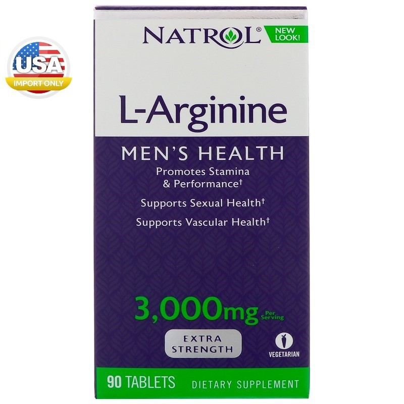 พร้อมส่ง_Natrol,L-Arginine, Men's Health,3000 mg, 90 Ta