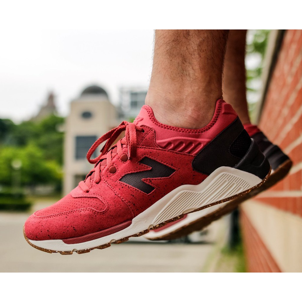 New Balance 009 Speckle Suede 'Clay Red with Supernova Red'
