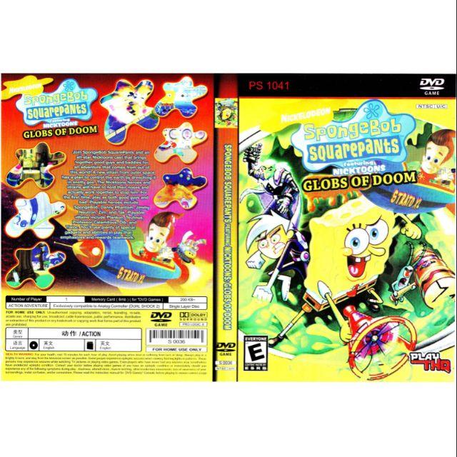 PS2 Games CD Collection Sponge Bob Square Pants