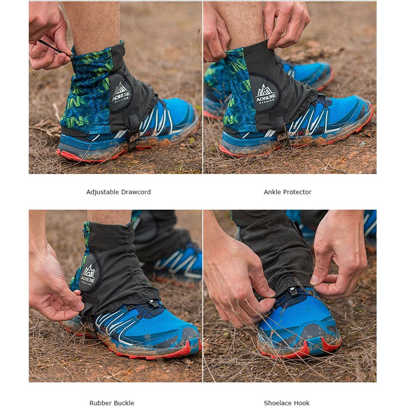 Outdoor Cycling Running Ankle Gaiters Protector Anti-slip Shoe Cover Waterproof