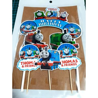 Surprising Thomas Friend Cake Topper Happy Birthday Ready Stock Laminated Funny Birthday Cards Online Overcheapnameinfo