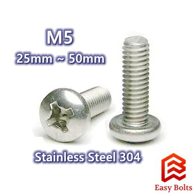 Qty 20 Countersunk M5 5mm x 16mm Machine Stainless Screw 304 SS Phillip
