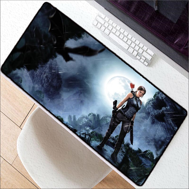 Tomb Raider Lock Edge Mousepad Gamer 900x400mm Gaming Mouse Pad Large Pc Mat