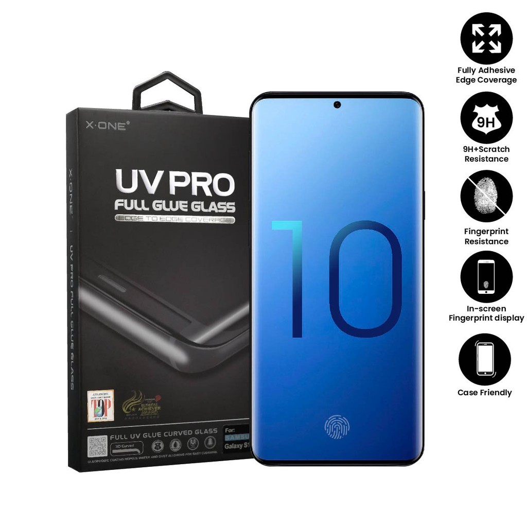 Samsung Galaxy S10 X-One UV Pro Full Glue Glass Screen Protector