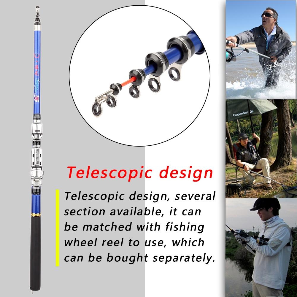Mini Glass Fiber Telescopic Ultra-light Casting Rock Sea Fishing Rod Pole