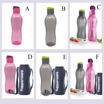 Tupperware Eco Bottle Flip top Fliptop 750ml / Fruit Infuser 1pc/ With OR Without Pouch