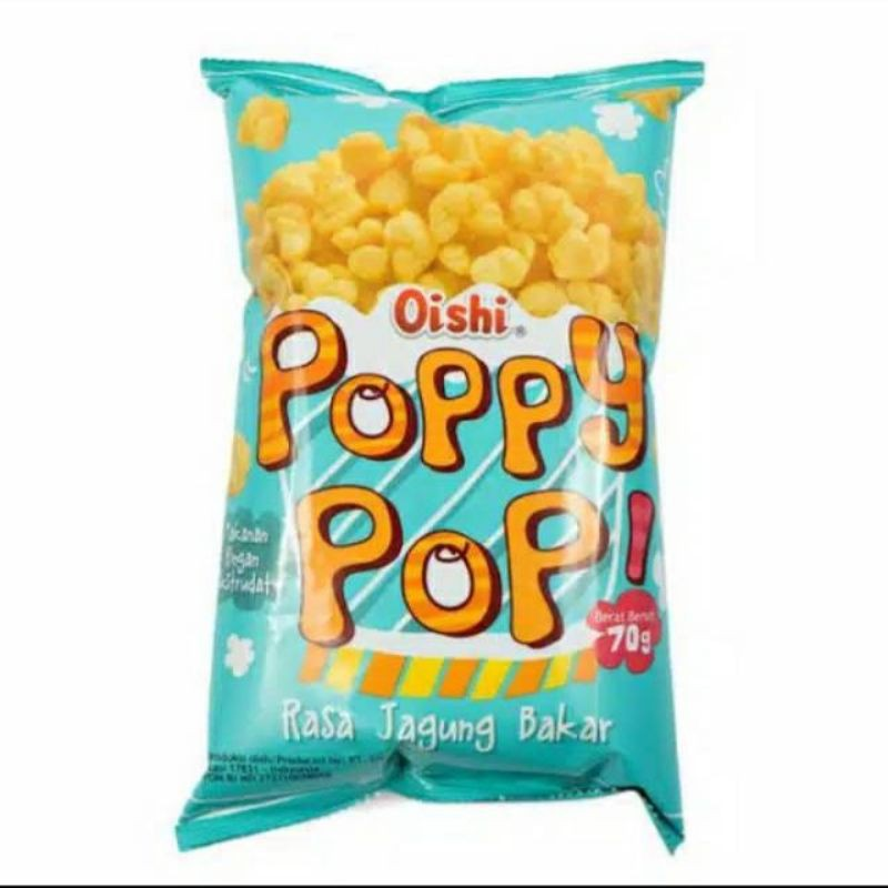 Oishi Poppy Pop Grilled Corn Flavor - 65g