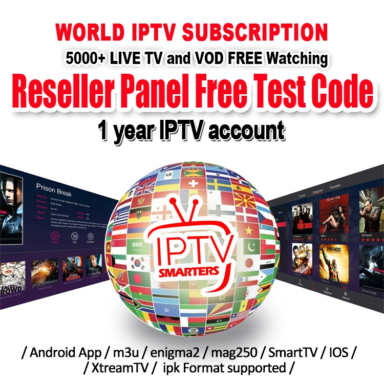 SMARTERS IPTV 5000+ LIVE TV And VOD Free Testing Islamic World IPTV  SUBSCRIPTION