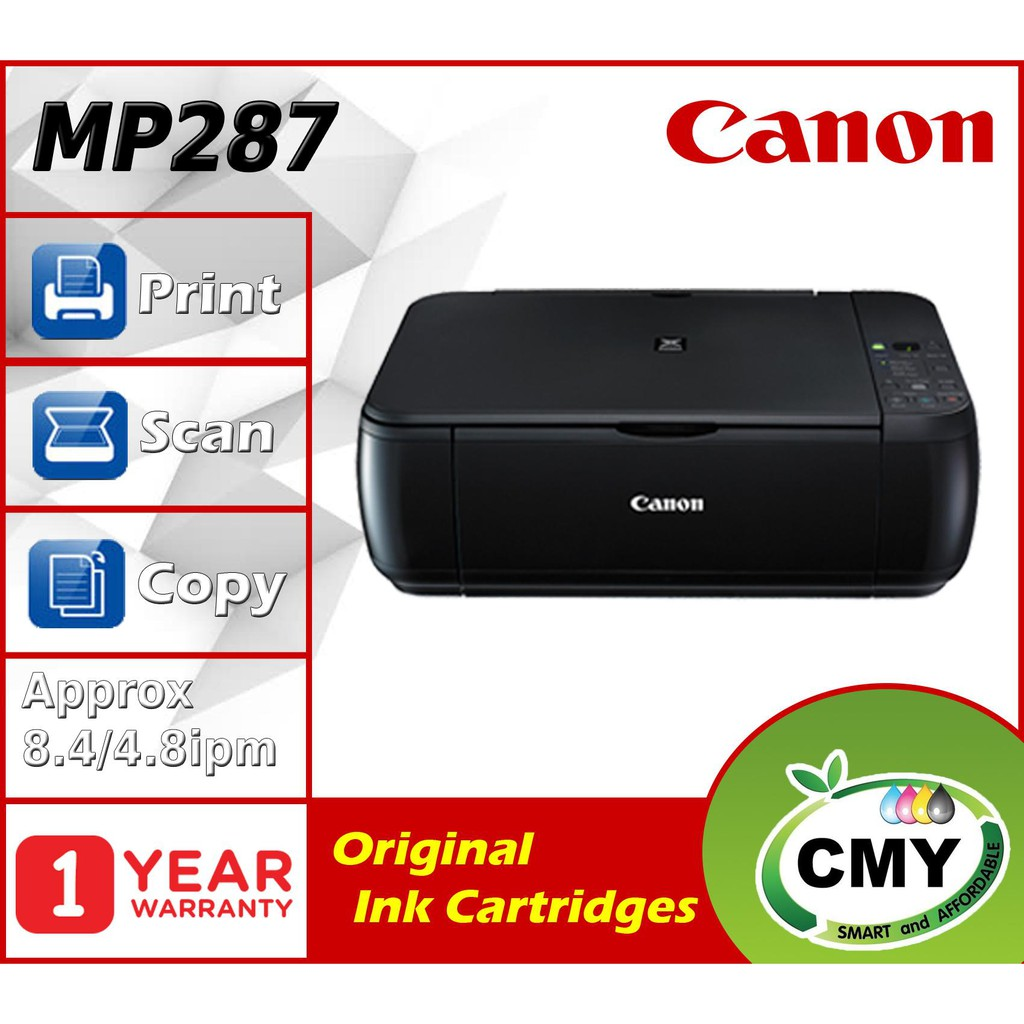 Canon PIXMA MP287 287 MP 287 - A4 3in1 USB Inkjet Printer