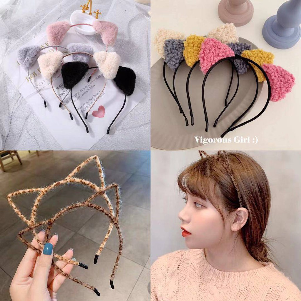 Leopard Plush Hair Hoop Cute Korean Hair Accessories Retro Hair Hoop