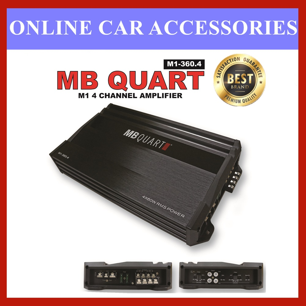 M1-360.4 - MB QUART 4 CHANNEL AMPLIFIER