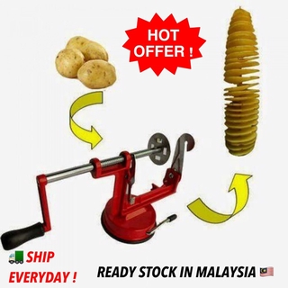 Hot Offer Spiral Potato Slicer Pemotong Kentang Putar