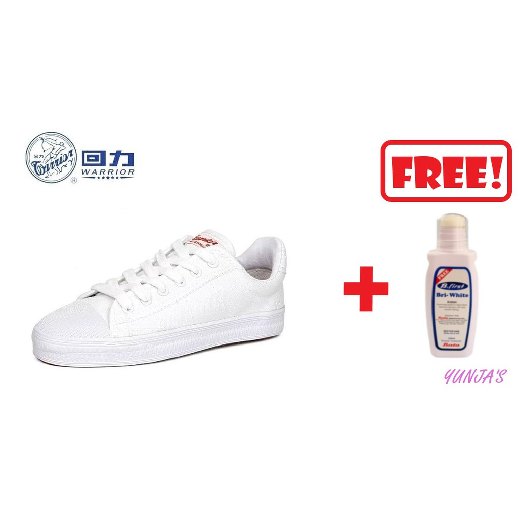 Warrior WB-8 Original White Shoes Black Shoes School Shoes Takraw Shoes