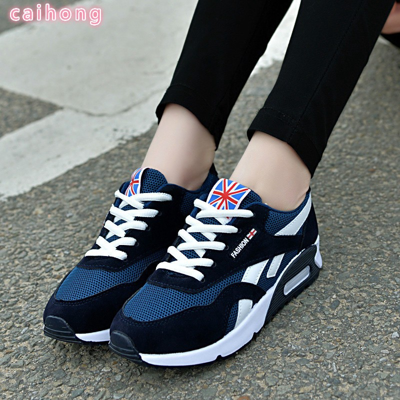 New Fashion Women Leather Sneakers Sport Breathable Casual Running Shoes  74b49a460db5f