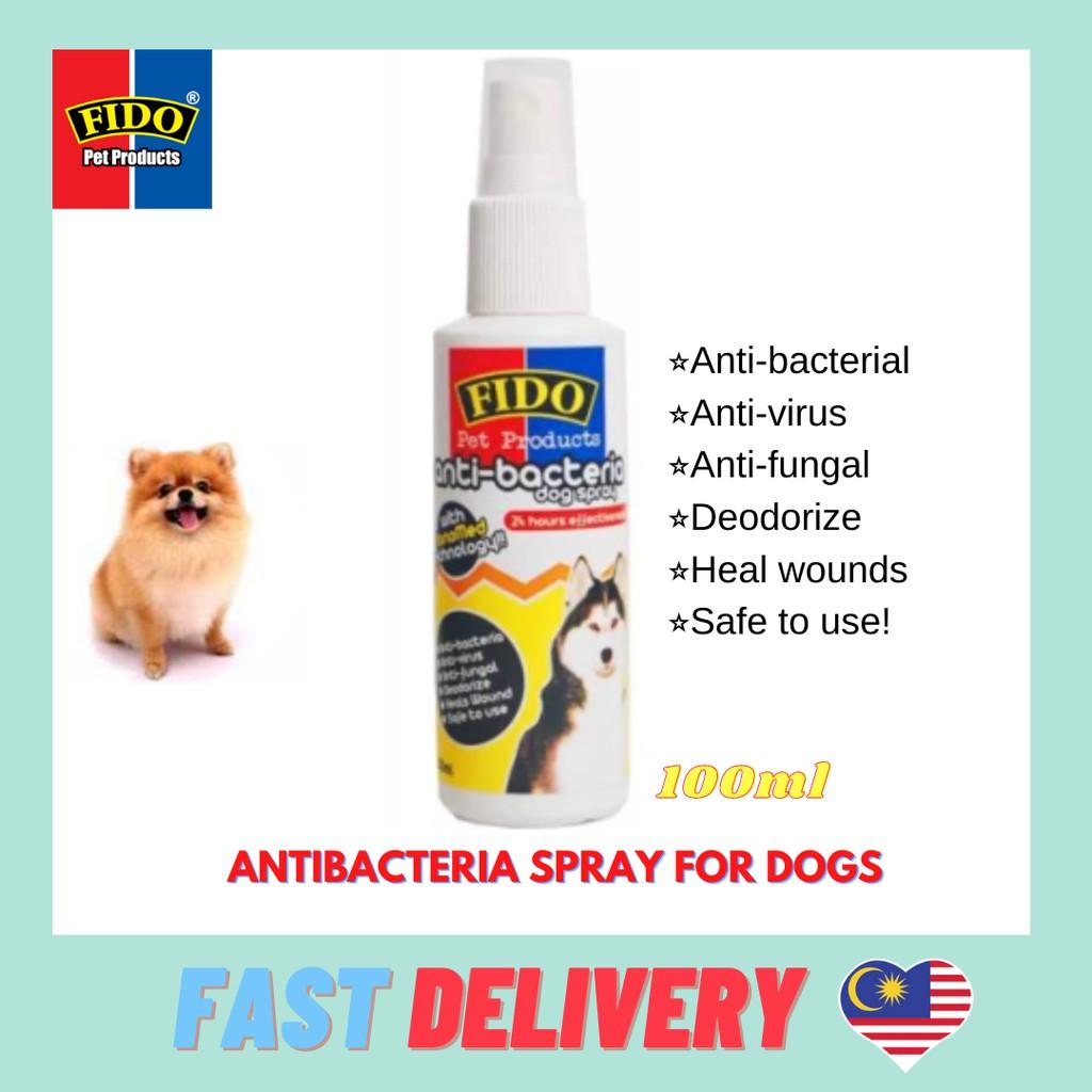 Ready stock & Fast Delivery * FIDO DOG SPRAY/PUMP ~ ANTI BACTERIA ANTI VIRUS ANTI FUNGAL [100ML]
