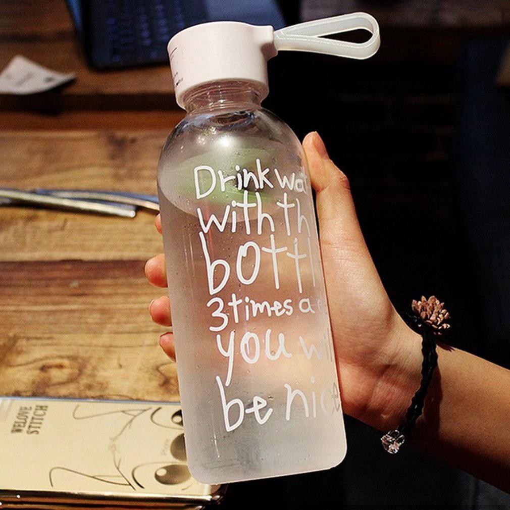 560ML Breakproof Glass Water Bottle Travel Drinking Water Bottle Drinkware