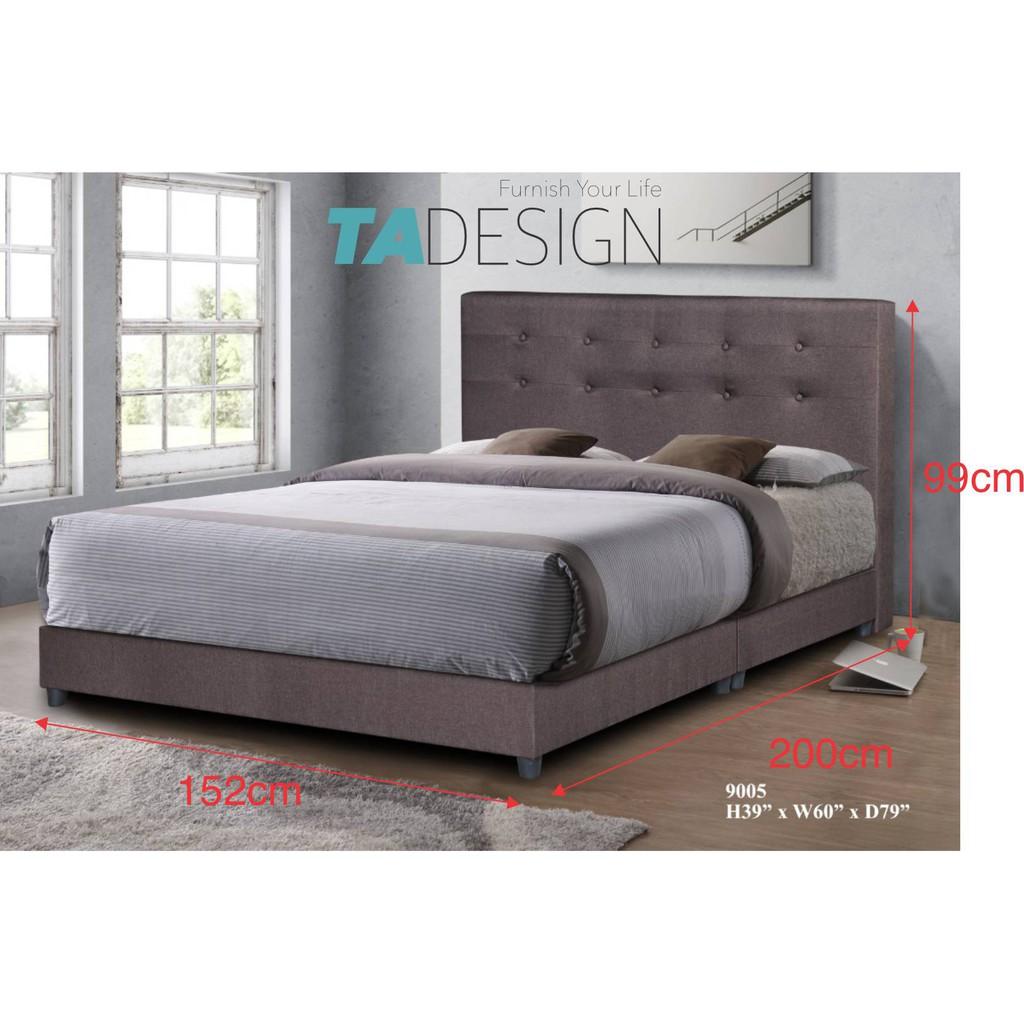 DIVAN water repellent fabric divan King bed frame 9005 King (FABRIC MATERIAL)