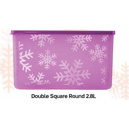 Tupperware Snowflake Double Square Round (1) 2.8L