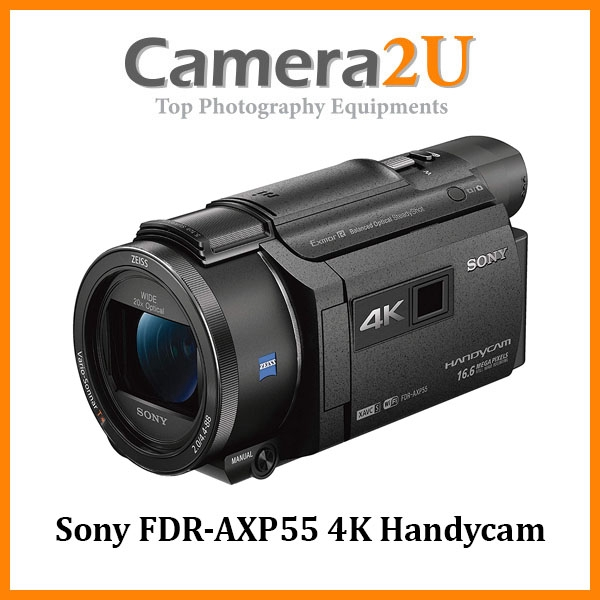 Sony FDR-AXP55 4K Handycam Video Camera Camcorder with Projector +64GB (Sony MSIA)