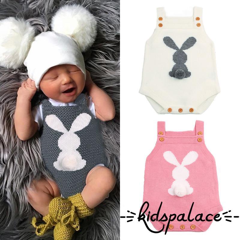 UK Toddler Baby Boys Girls Easter Rabbit Romper Bodysuit Jumpsuit Outfit Sunsuit
