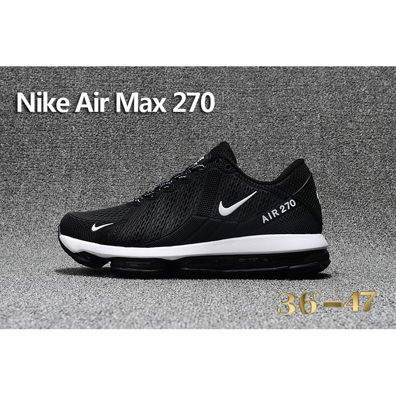 best value fe3a8 61aa0 Original Nike Air Max Flair 270 Running Shoes Black White Men/Women Sneaker  Size