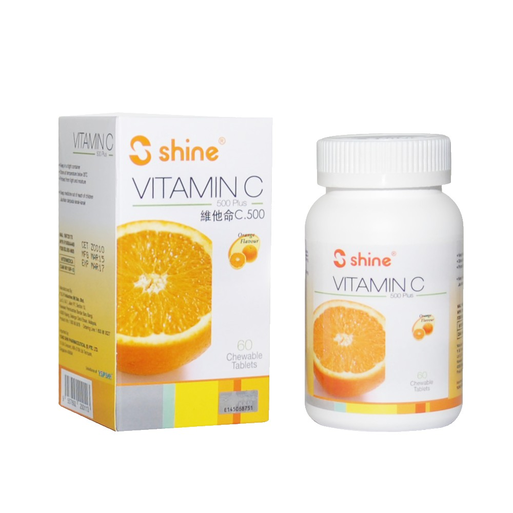Shine Vitamin C Plus 500mg 60\'S