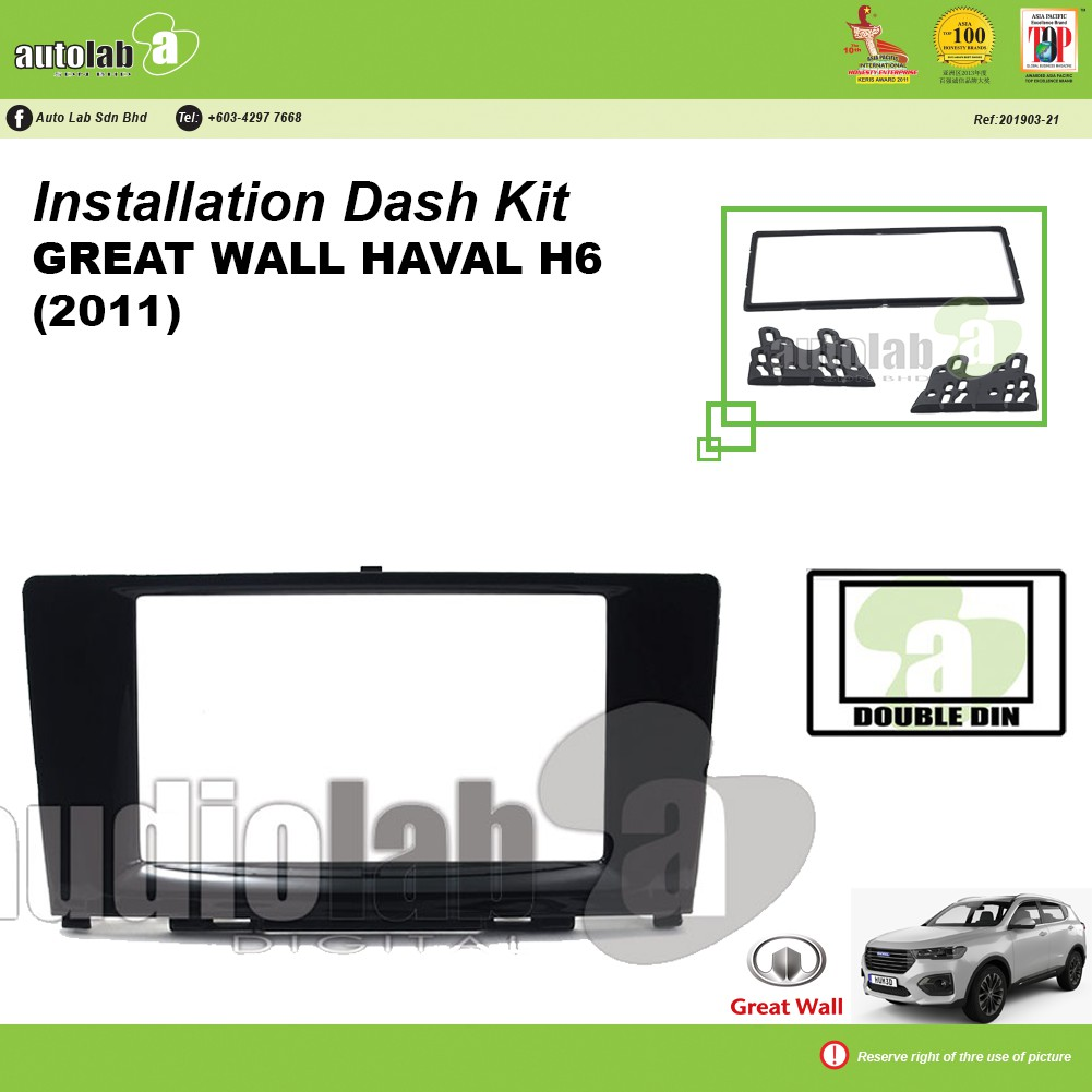 Player Casing Double Din Great Wall Haval H6 2011