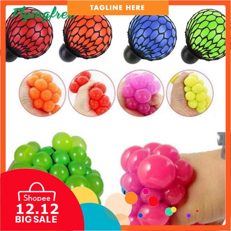 Squishy Mesh Ball EDC Stress Relief Hand Fidget Kit Sensory Toy Autism ADHD