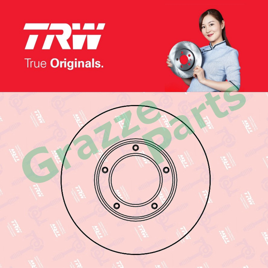 (2 pcs) TRW Disc Brake Rotor Front for DF1927 Toyota LH80 Dyna 100 1985-1995 (257mm)