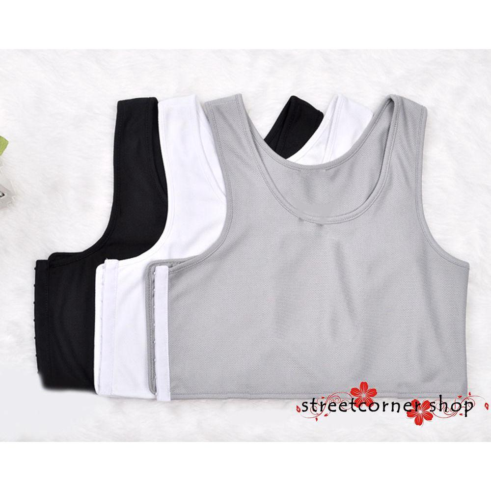 TER-Lesbian Girl Tomboy Casual Buckle Short Chest Breast