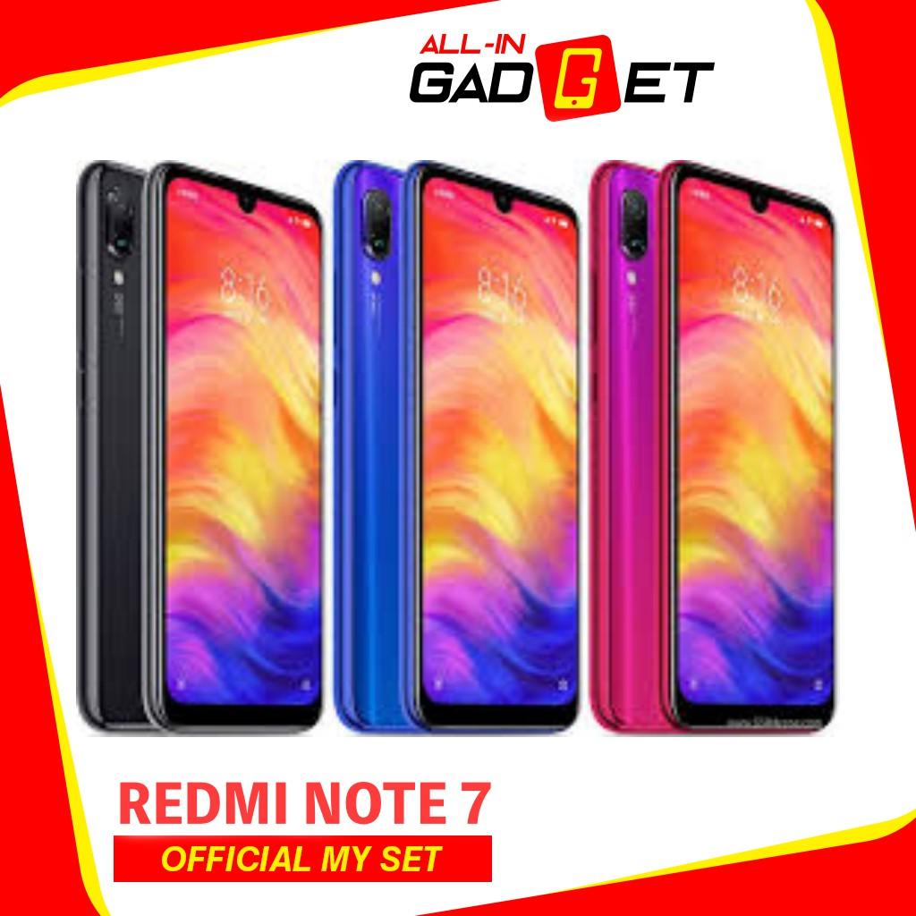 Redmi Note 7 (4GB+128GB/64GB/32GB) Original Mi Malaysia Set Global ROM