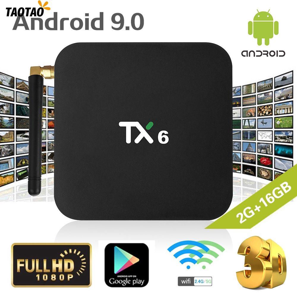 android 9 0 tv box tx6 4gb ram 64gb 5 8g wifi allwinner h6 quad core