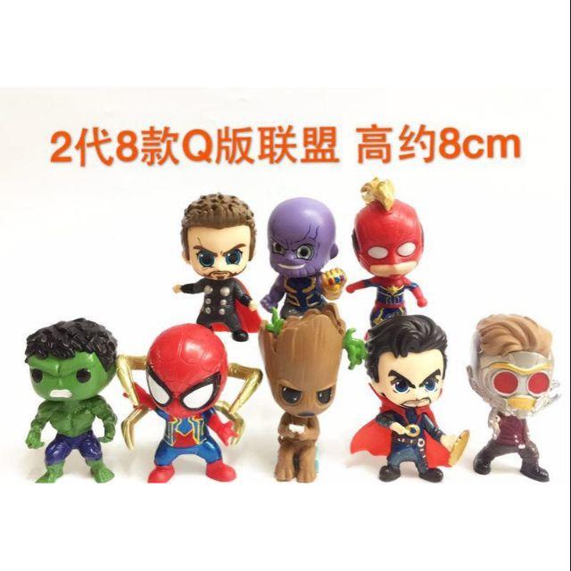 8pcs Super Hero The Avengers SPIDERMAN Spiderman Birthday Cake Topper Figures