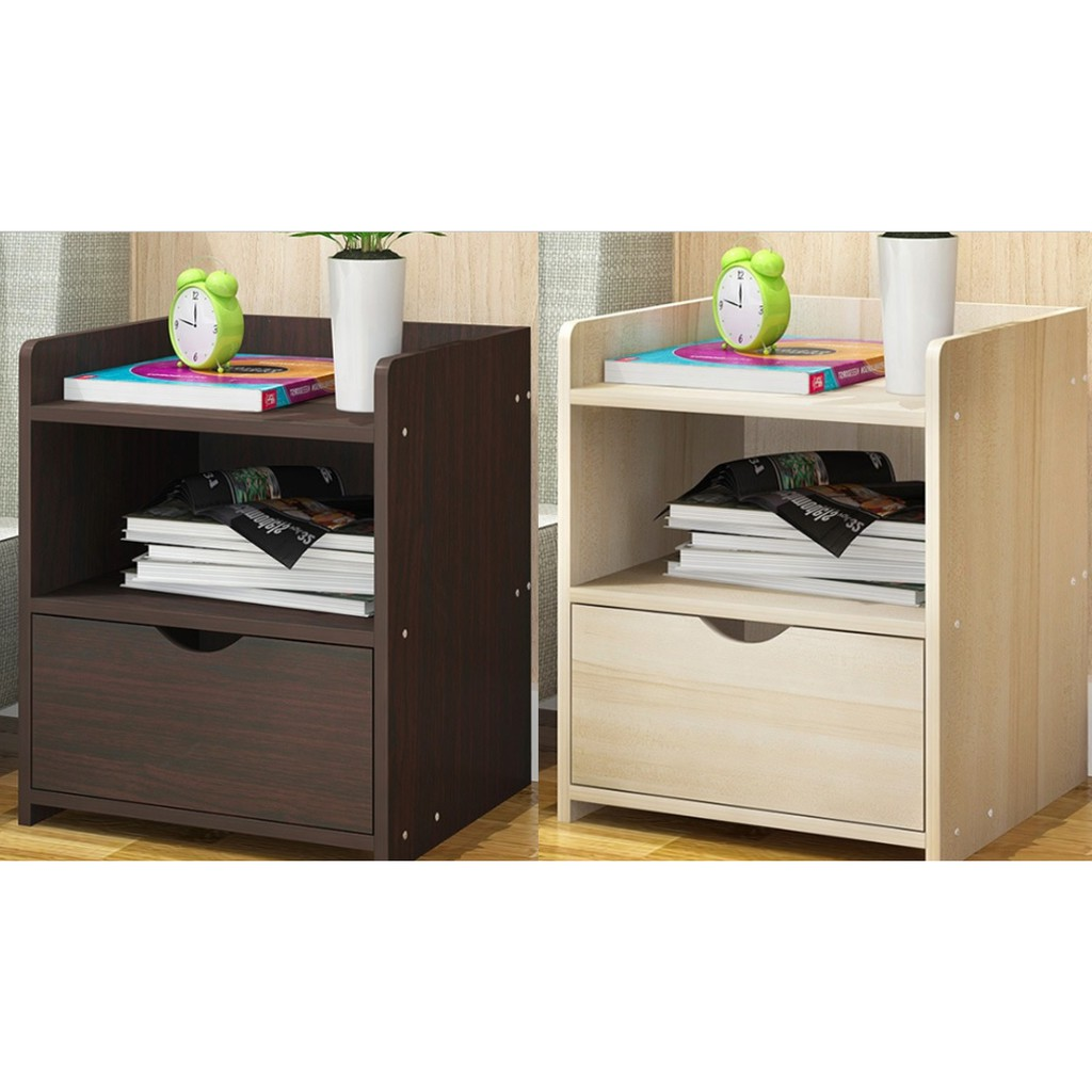 🔥M\'SIA STOCK] Modern Combination Storage Bedside Cabinet- KABINET SERBAGUNA