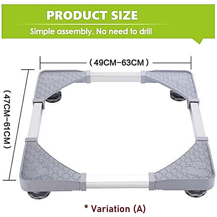 Movable Adjustable Height Washing Machine Refrigerator Undercarriage Bracket Base Stand Telescopic Table Wheel