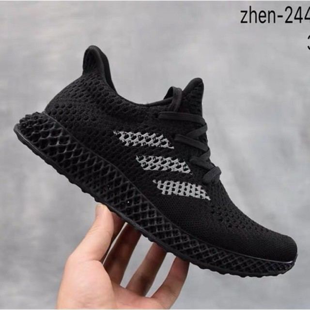 e9c2857c8c01 100% Original Adidas Futurecraft 4D White Ash Green Men's Running Shoes  BD7701