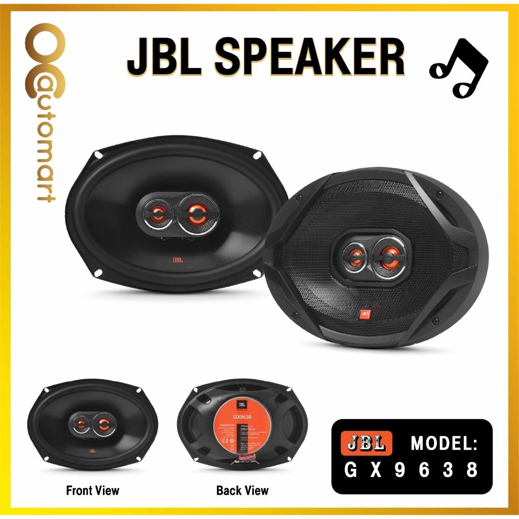 """JBL GX Series GX9638 6"""" x 9"""" 3-Way Car Loudspeakers with Polypropylene Cones (Pair) Orange/Black - 100Wrms,210W peak"""