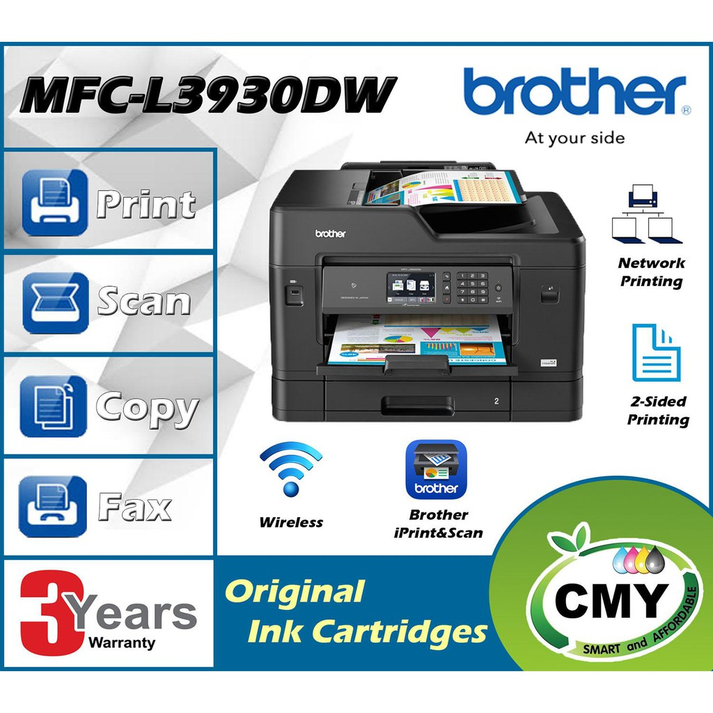 BROTHER MFC-J3930DW ALL IN ONE Print Duplex A3 Scan Wifi PRINTER