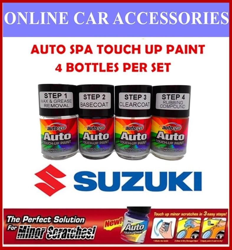 SUZUKI CAR Original Touch Up Paint - AUTOSPA Touch Up Combo Set (4 Bottles Per Set)