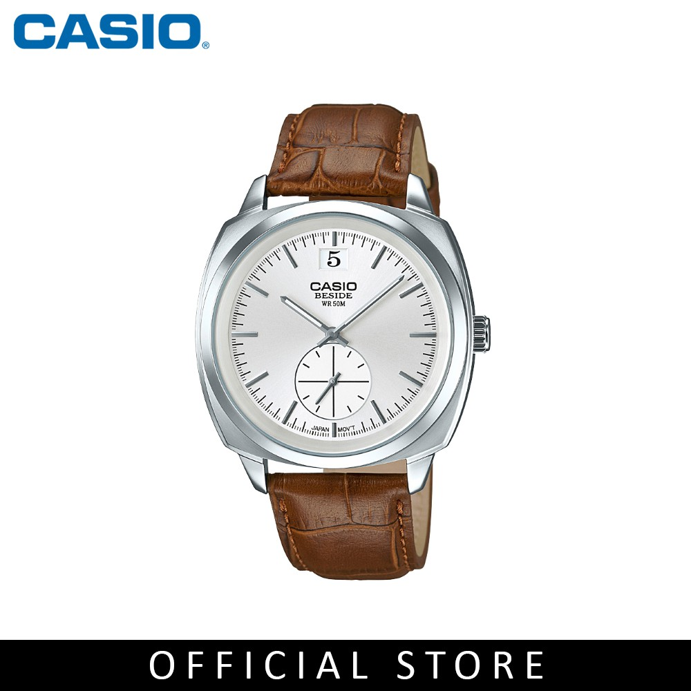 Casio General BEM-150L-7A Dark Brown Leather Band Men