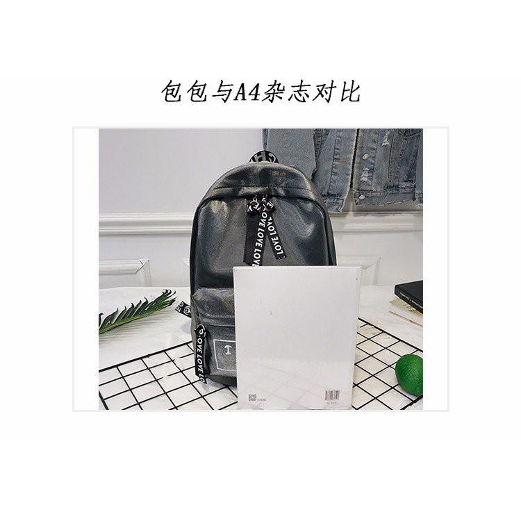 EVON PREMIUM BP015 Y520 SHINY METALLIC BACKPACK SCHOOL BAG BIG CAPACITY KOREAN TRENDY STUDENT BAG MULTI COMPARTMENT