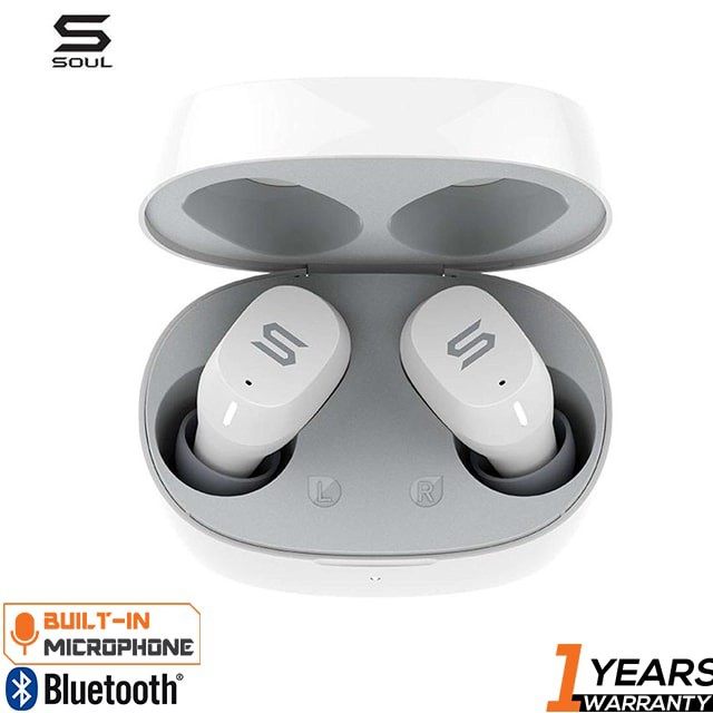 Soul Emotion 2 High Performance True Wireless Earbuds - White