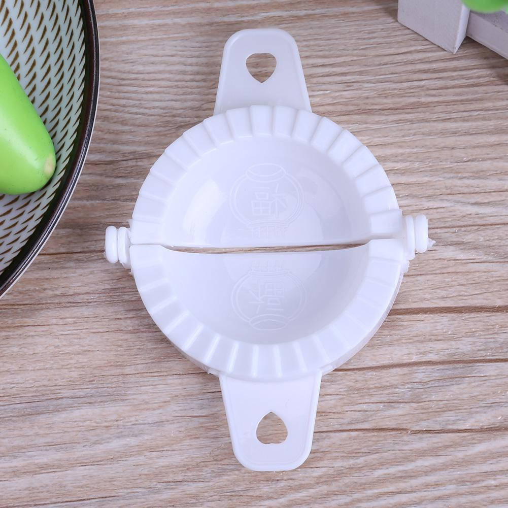 Dumpling Kitchen Tools Hand Pinch Dumplings Mold Maker Tool White(M)