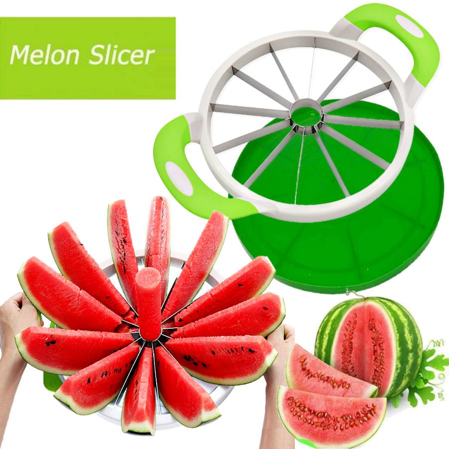 Watermelon Hami Melon Splitter Slicer Fruit Cutter Apple Coring Tools Stainless Steel Knife Chopper Divider