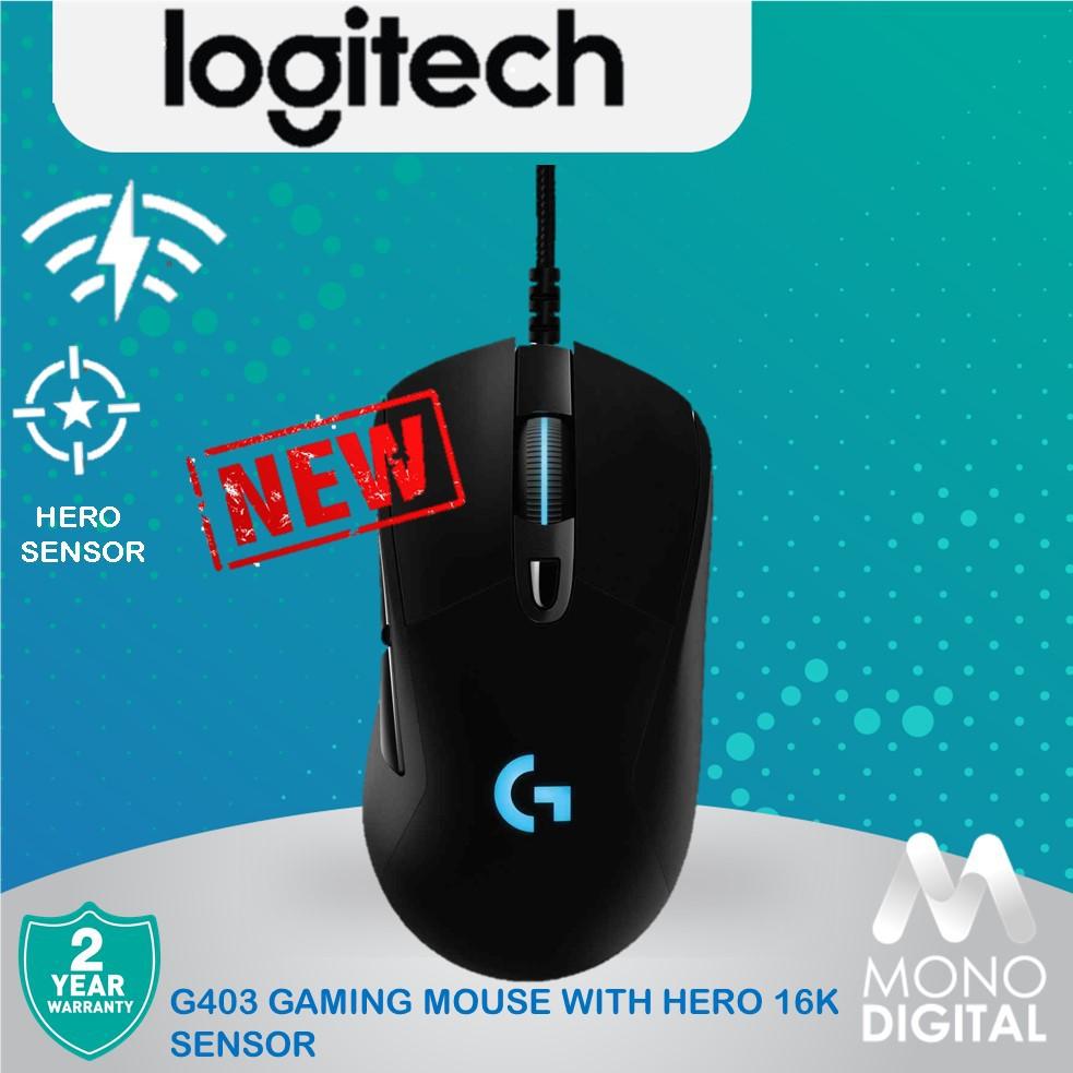 Logitech G403 Gaming Mouse with HERO 16K sensor (910-005634)