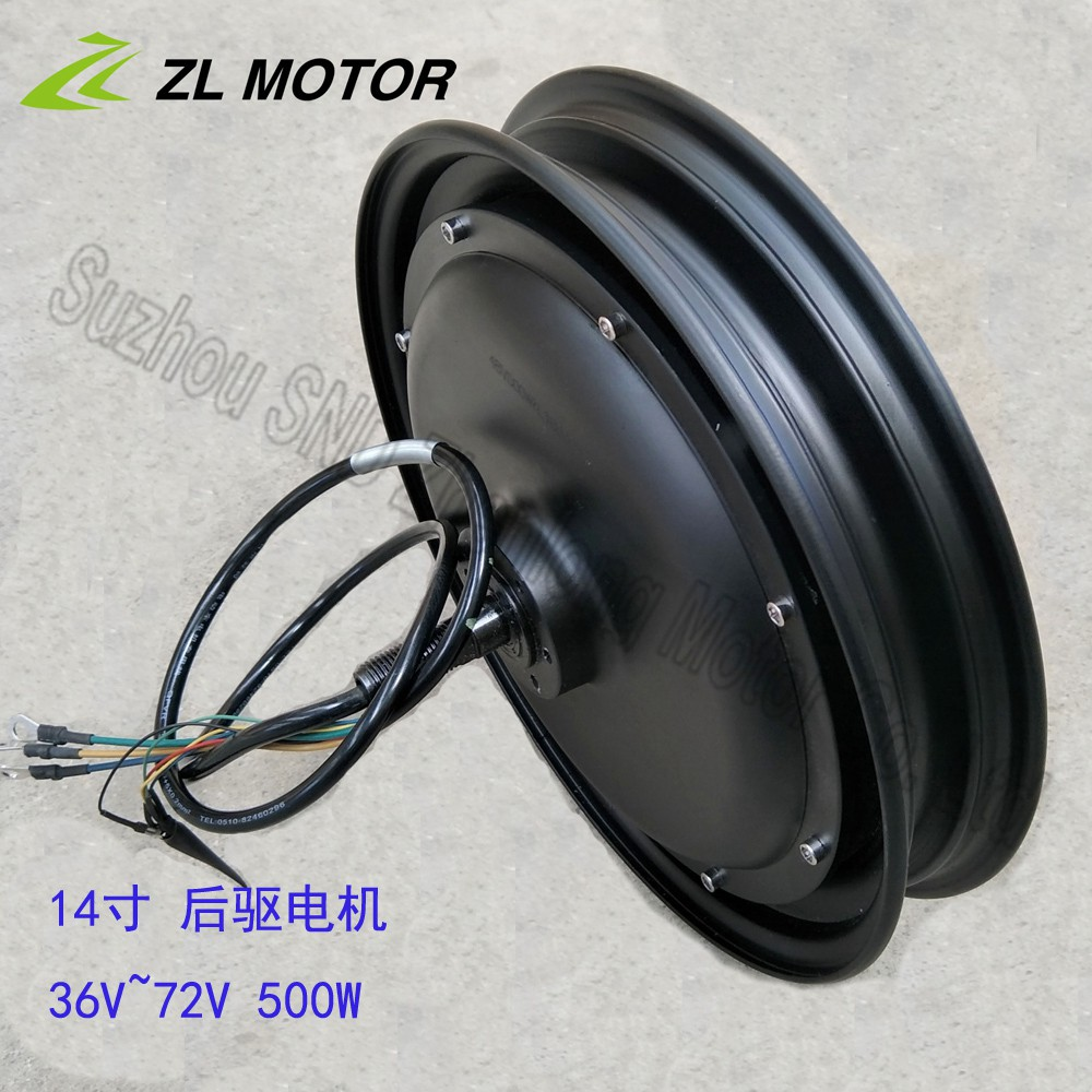 Electric Bicycle Motor Bldc Bm1418zxf 500w Dc 36v / 48v / 60v Brushless Motor