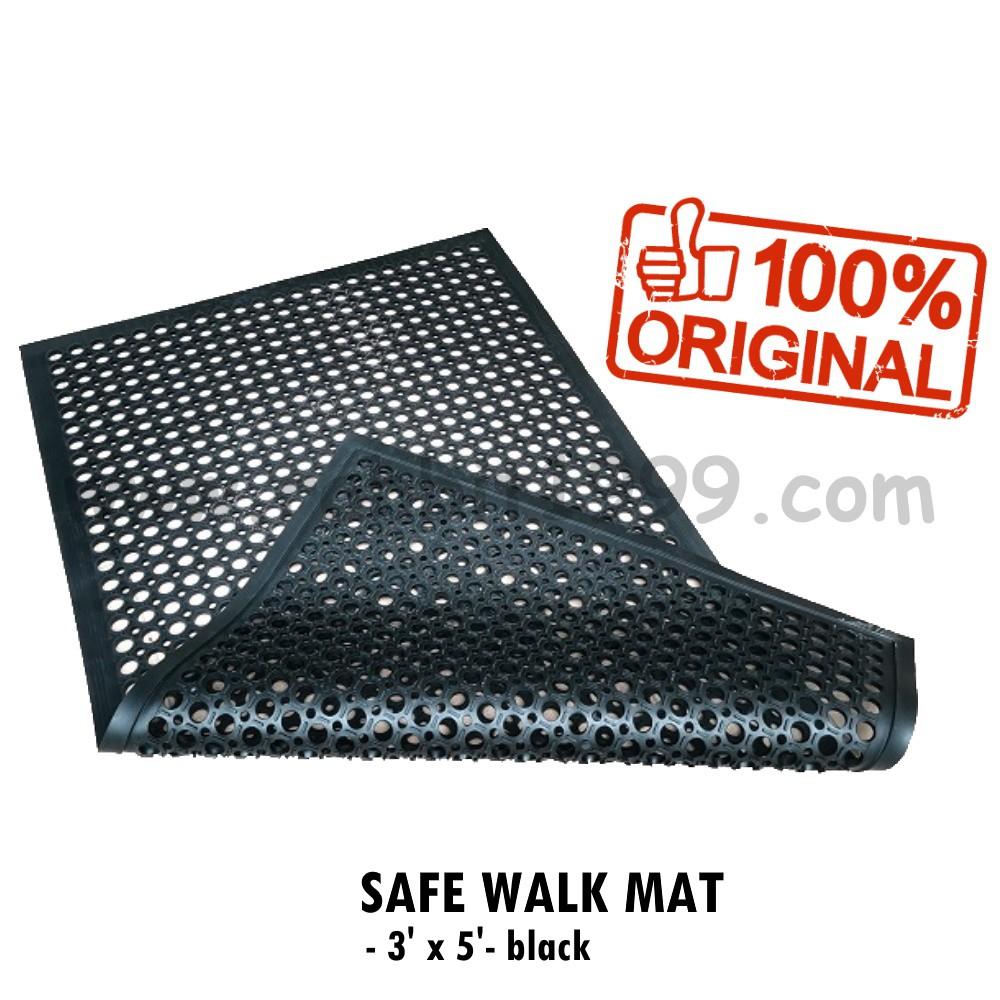 Safe Walk Mat 3 X 5 Black Kitchen Mat Kitchen Floor Mat Safe Walk Light Anti Slip Mat Anti Fatigue Mat Shopee Malaysia