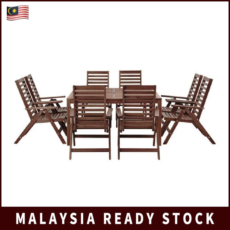 Fantastic Chairs Outdoor Brown Stained Ikea Applaro Table 8 Reclining Machost Co Dining Chair Design Ideas Machostcouk