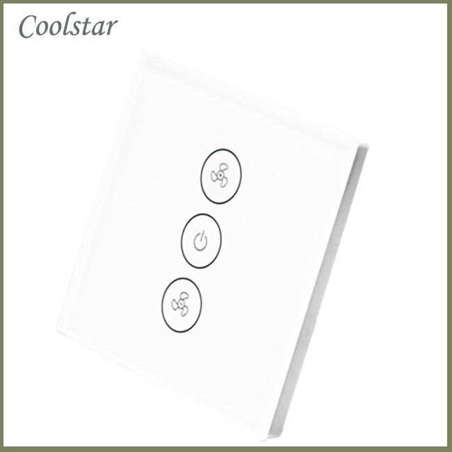 Wifi Smart Fan Controller Wall Switch Touch Panel for Alexa Voice